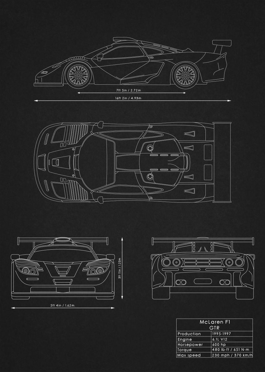 McLaren F1 GTR by Rockstone | metal posters - Displate