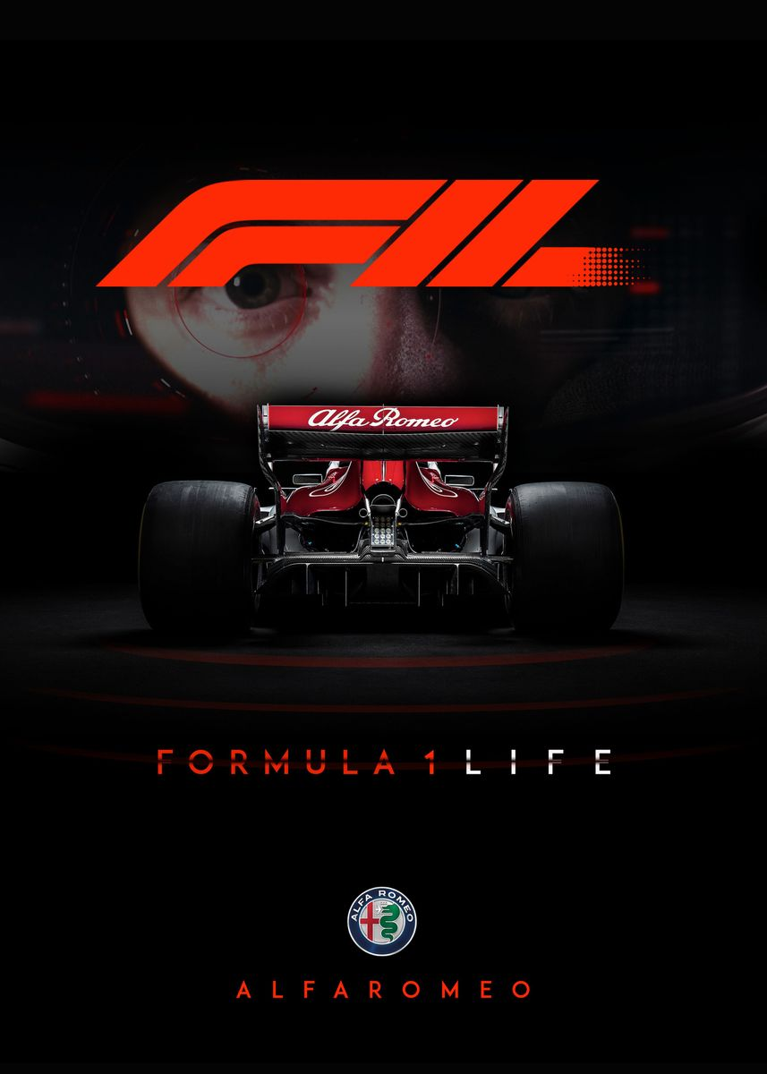 F1 2018 Alfa Romeo Fanart Poster Print By Tamim Khan Displate