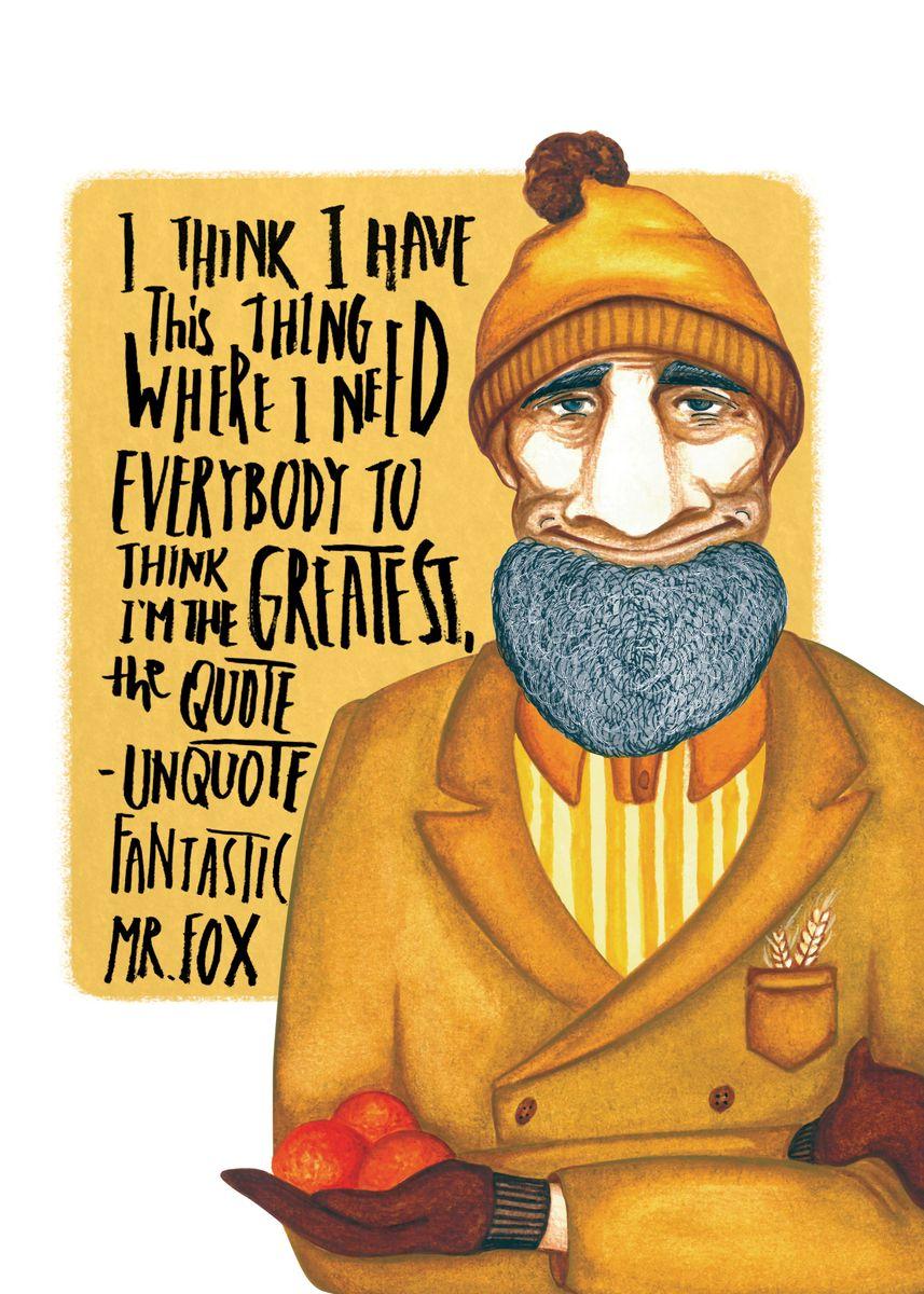 Fantastic Mr Fox Poster Print By Silvana Frinculescu Displate