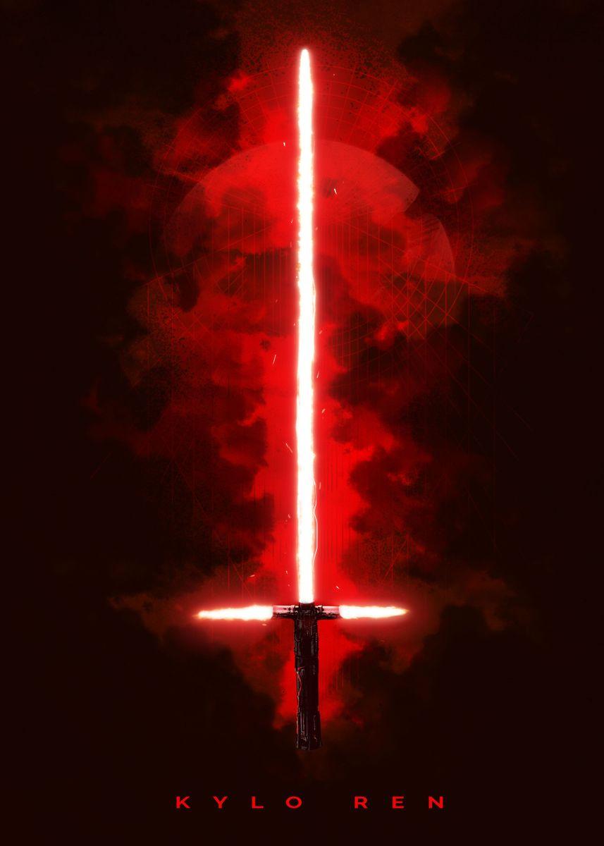 Kylo Ren Metal Poster Star Wars Displate