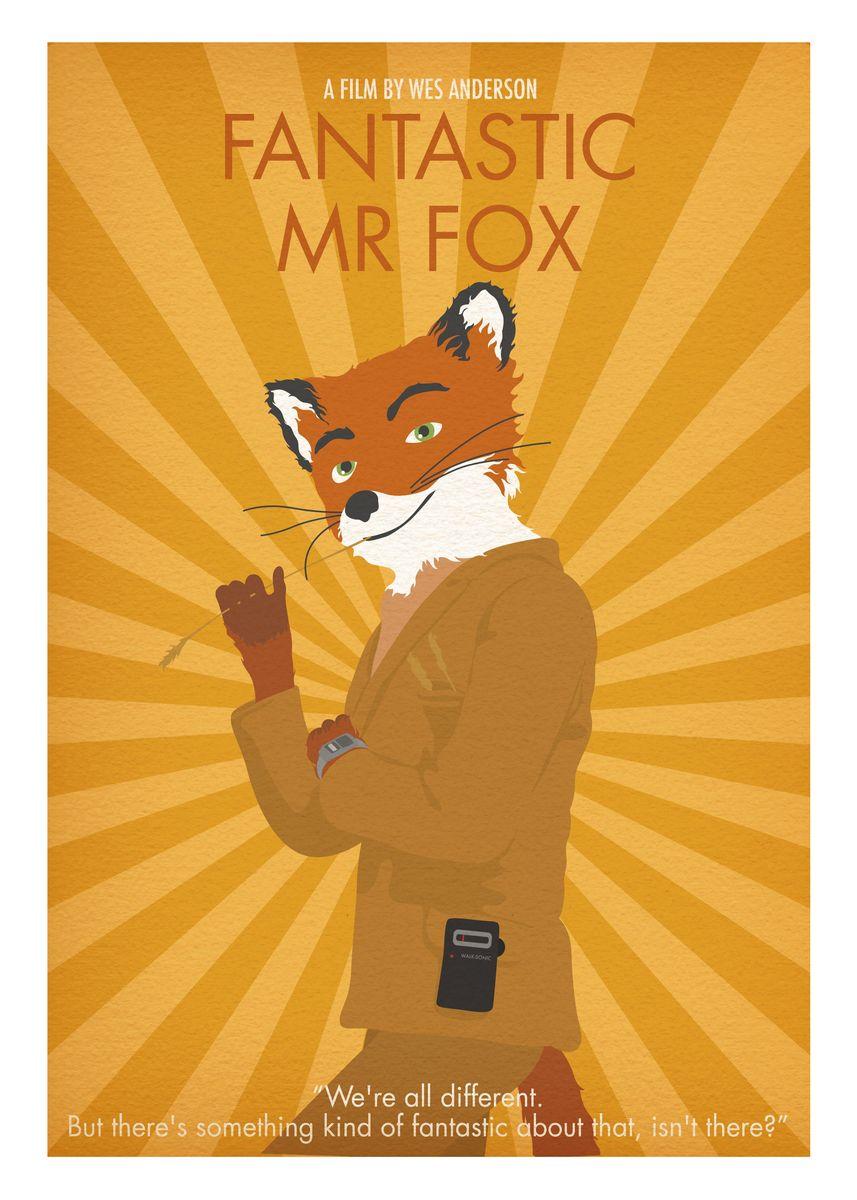Fantastic Mr Fox Minimal Poster Print By Posteritty Prints Displate