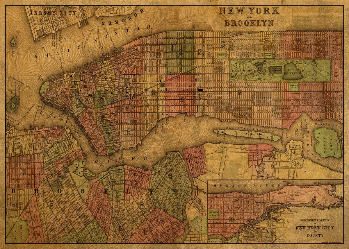 Map manhattan brooklyn List of