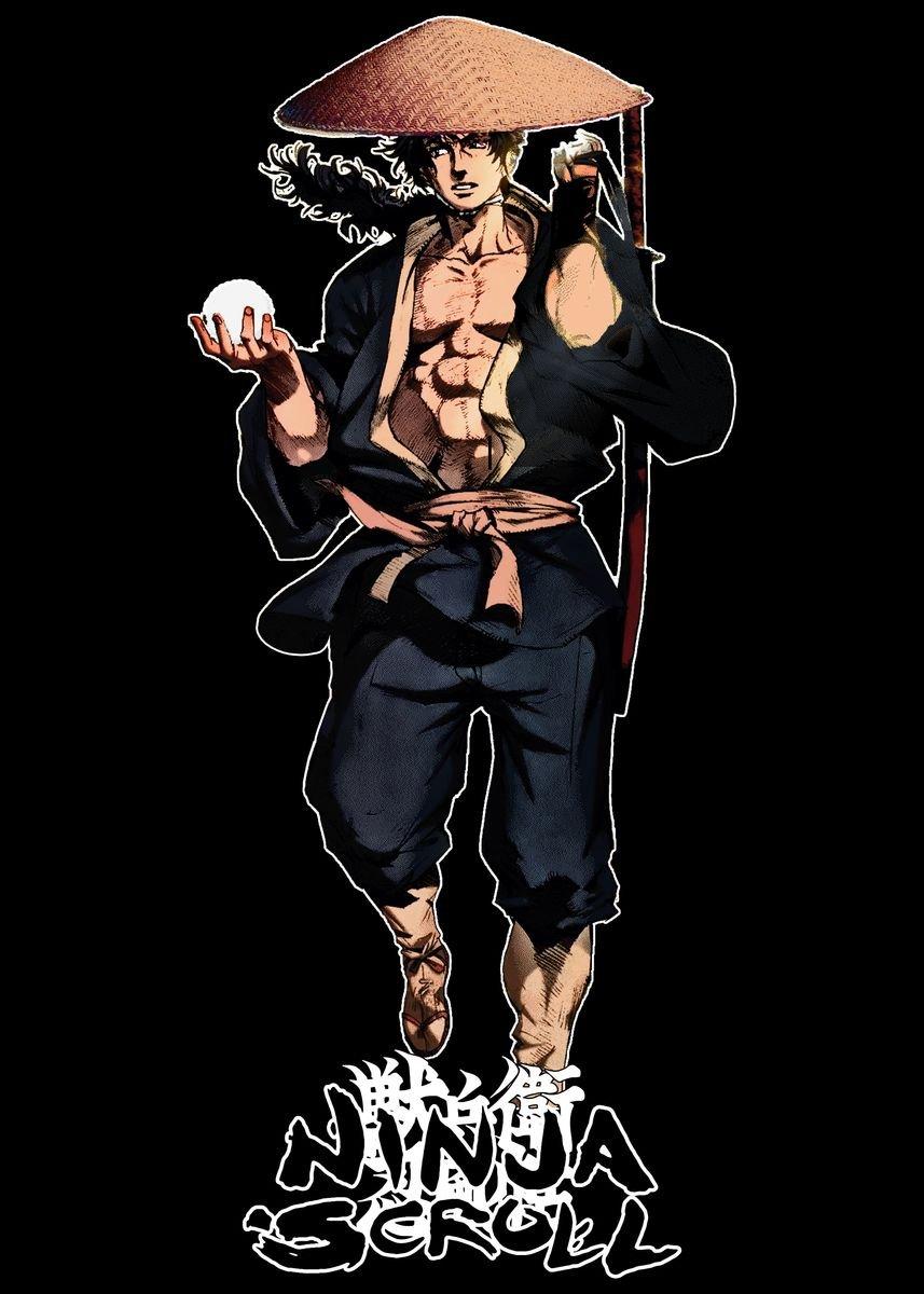 Jubei From Ninja Scroll Metal Poster Hizo Design Displate