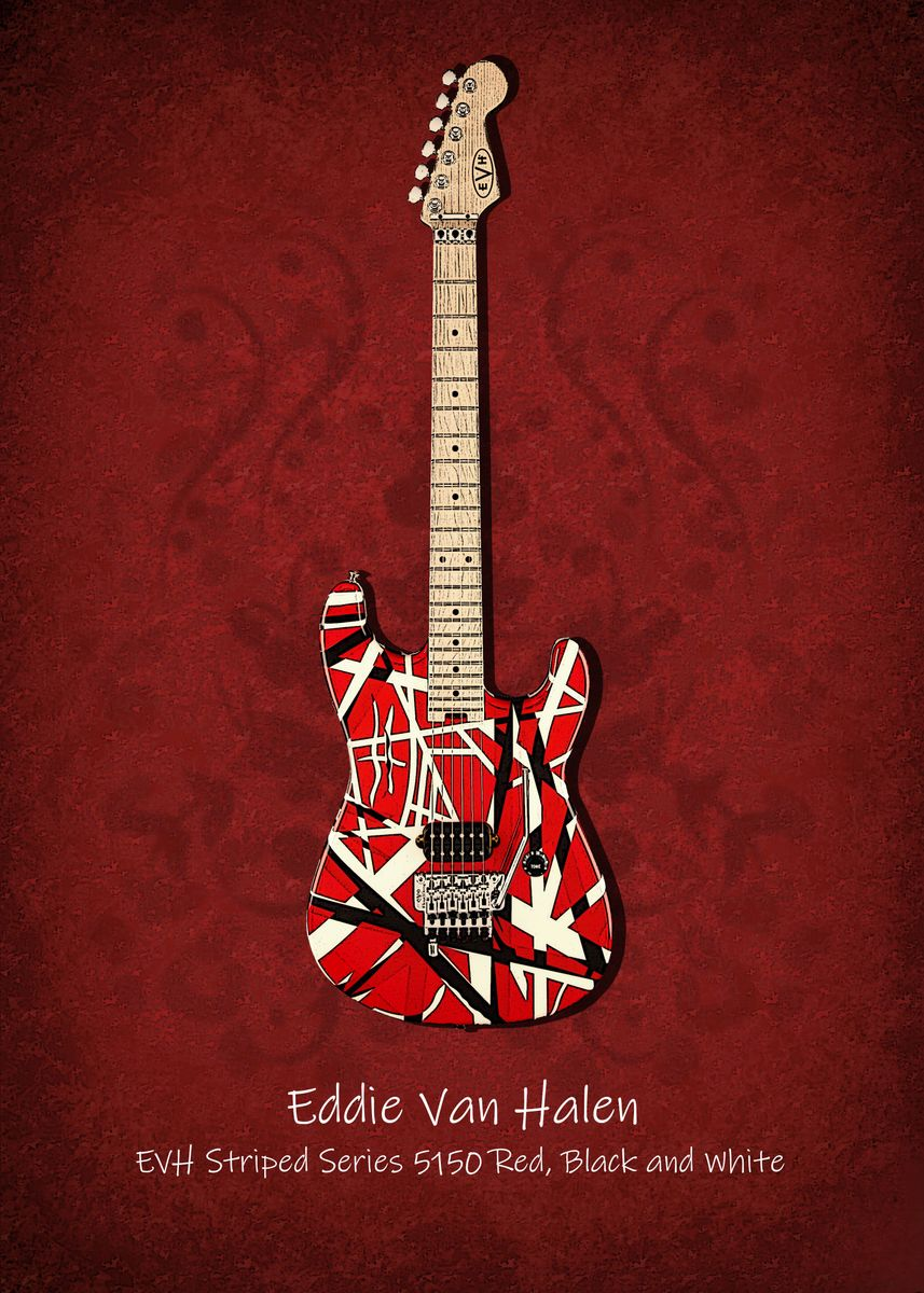 Eddie Van Halen Poster Print By Mimis Design Displate