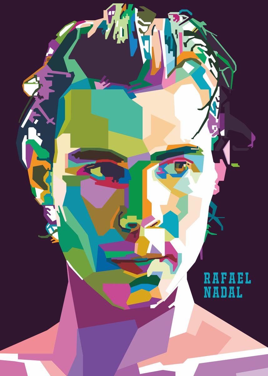 Rafael Nadal Poster Print By Royyen Roy Displate