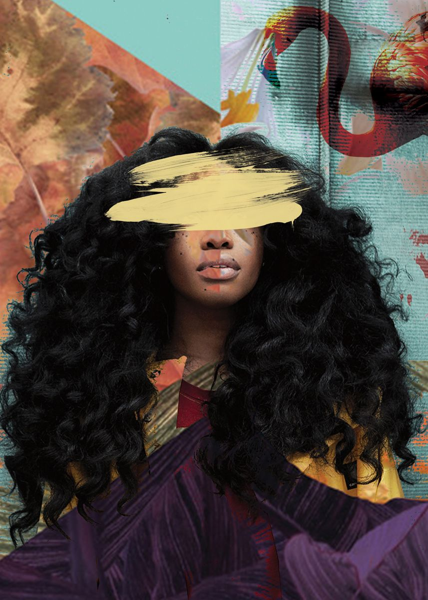 SZA Collage Poster