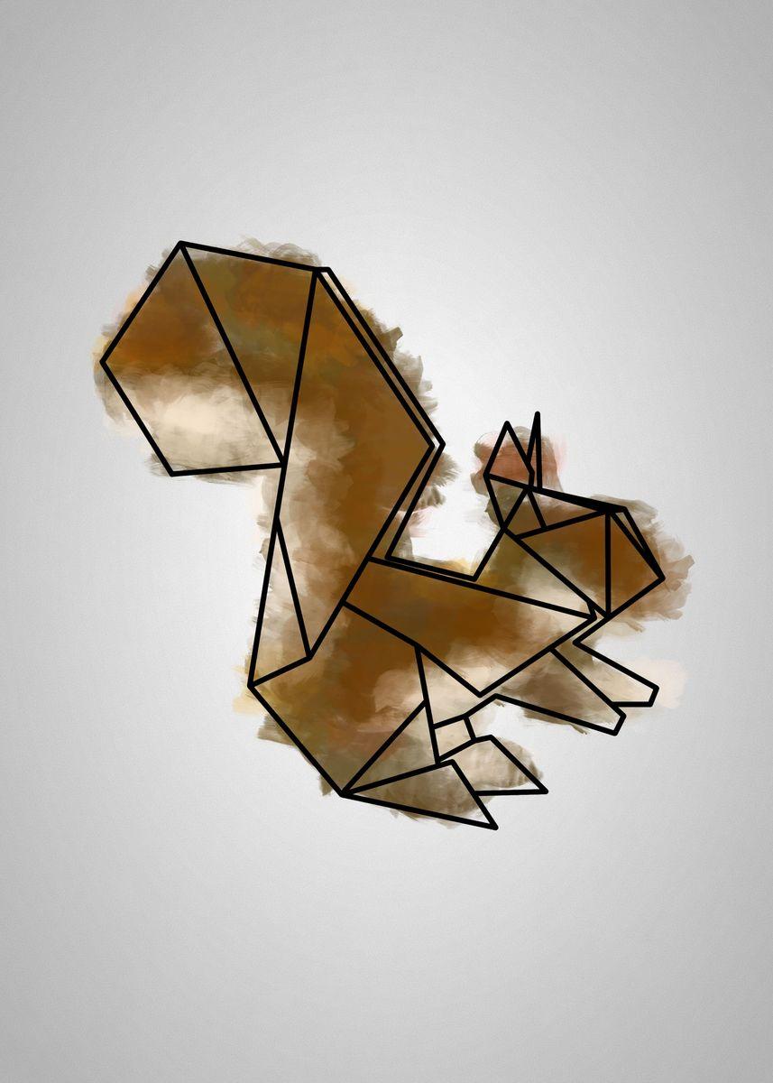 Animals Origami: Squirrel | Paper Origami Guide | 1200x857