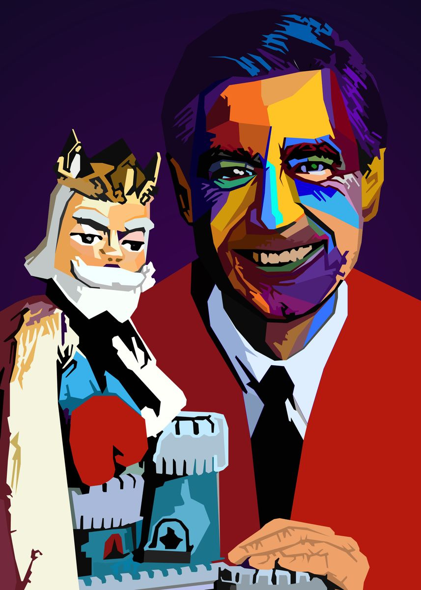 Fred Rogers Wpap Popart Poster Print By Nguyen Dinh Long Displate