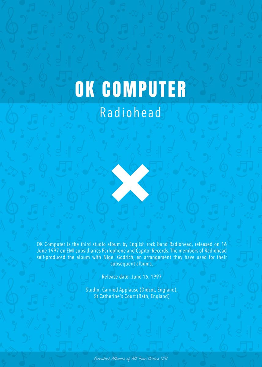 OK Computer Radiohead by Design Turnpike   metal posters