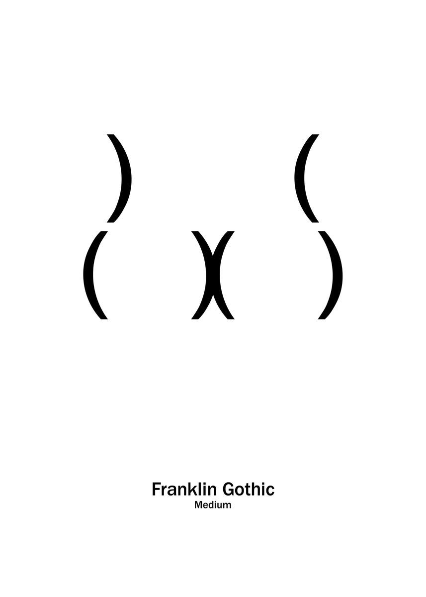 Franklin Gothic by Viktor Hertz | metal posters - Displate