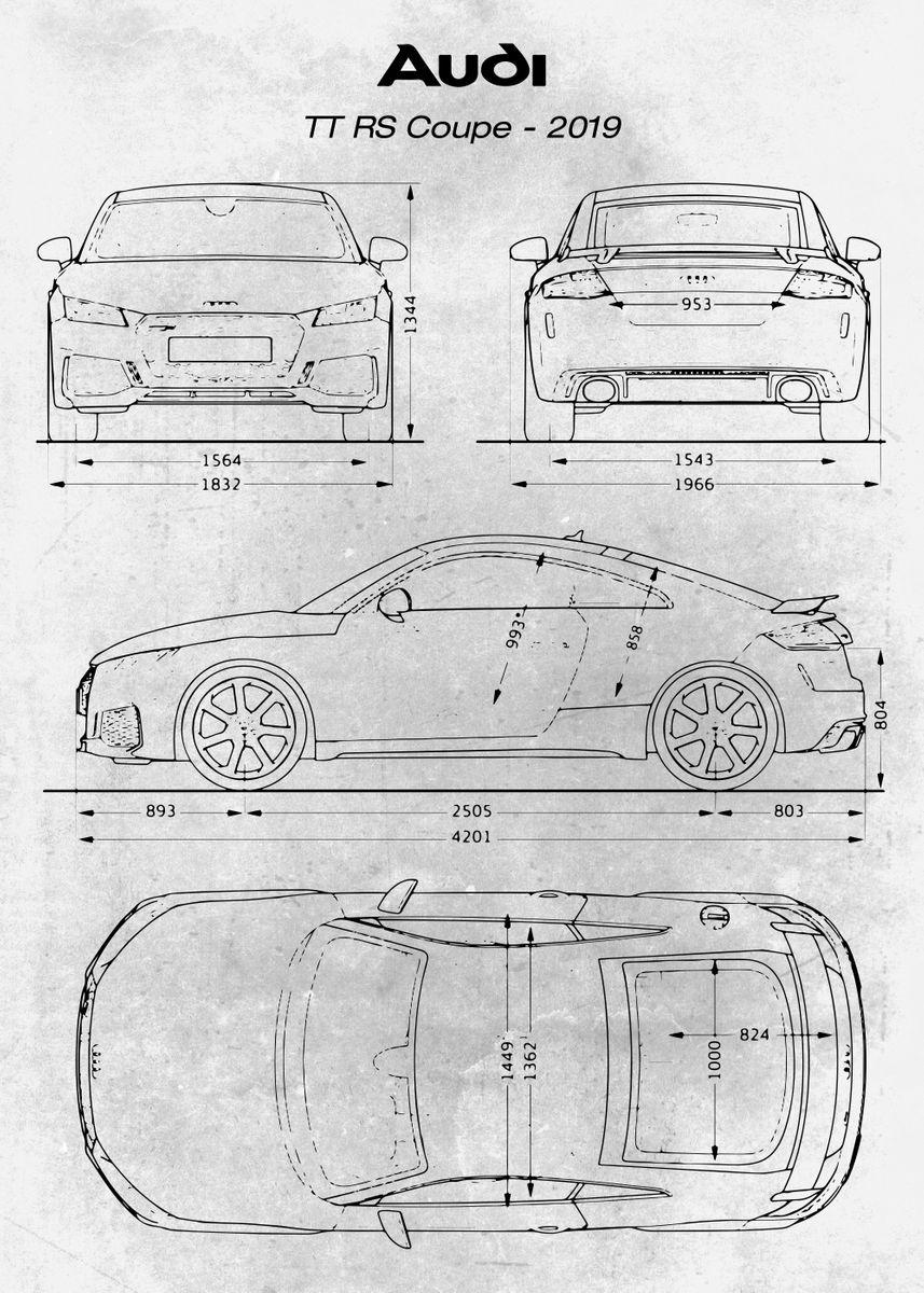 Photo Picture Poster Print Art A0 A1 A2 A3 A4 AUDI TT CAR CAR POSTER AC969