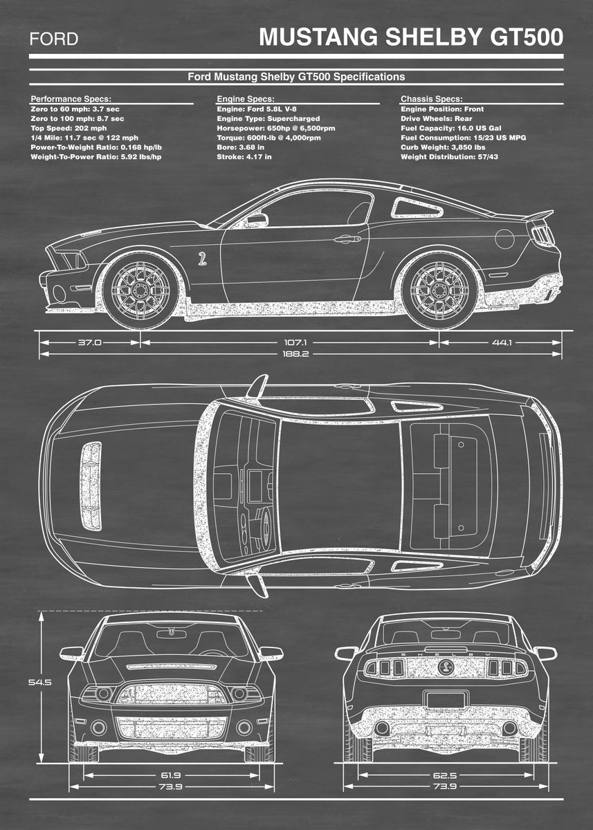 2013 Shelby GT500 Posters