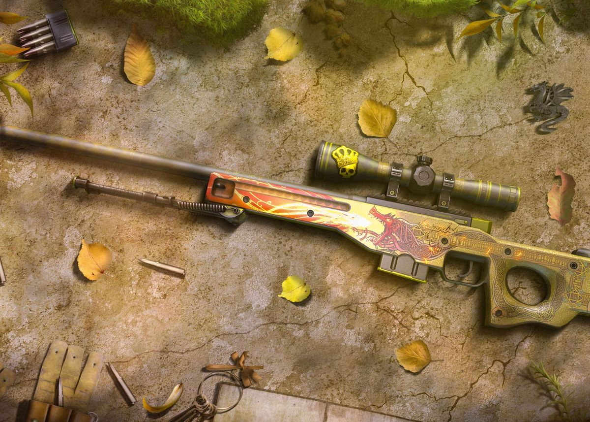 'AWP Dragon Lore' Metal Poster Print - Patrick Aust | Displate