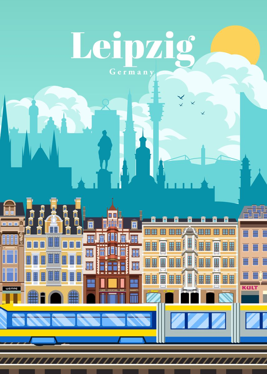 Travel To Leipzig Poster Print By Studio 324 Displate