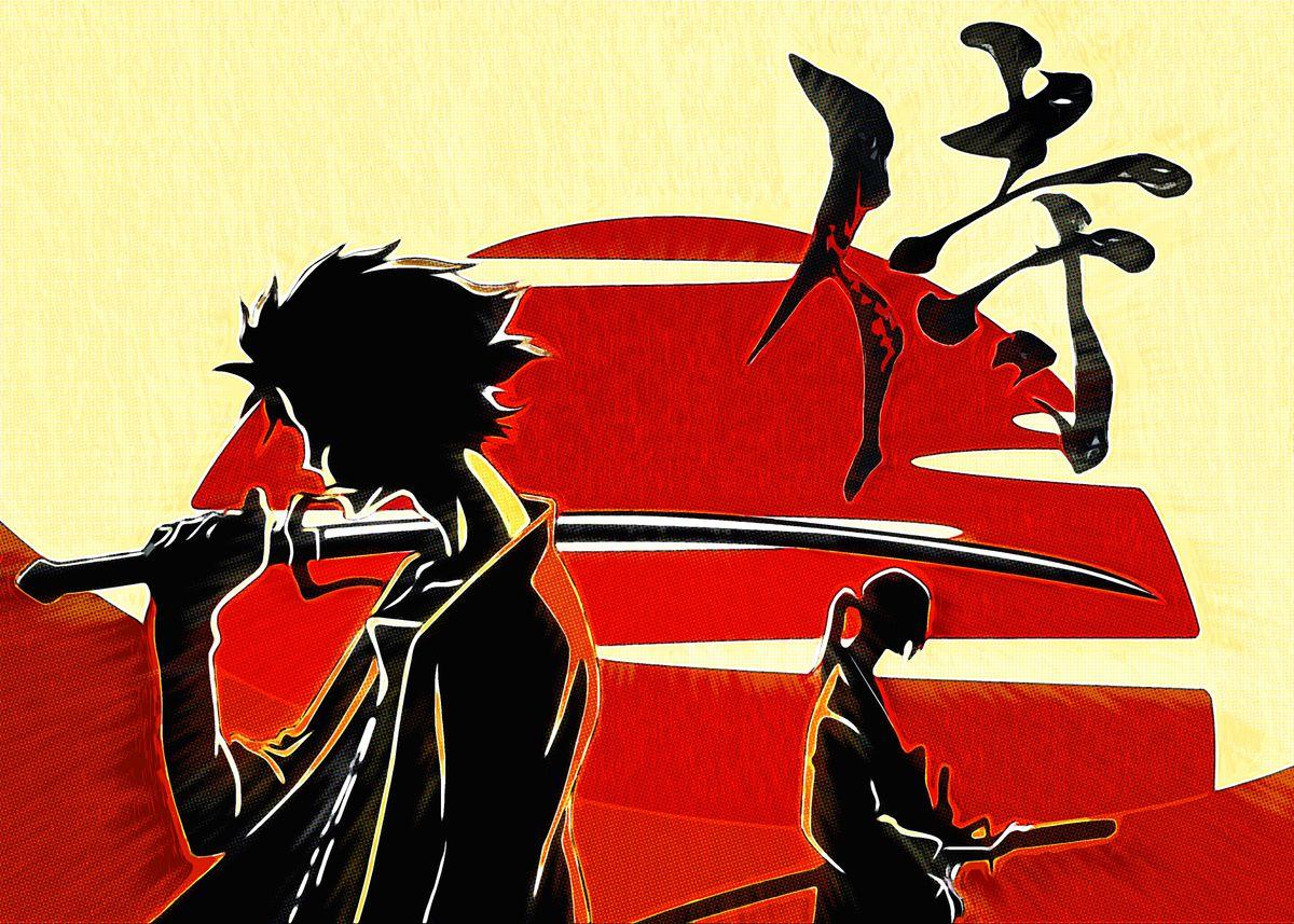 Anime Samurai Champloo Poster Print By Reo Anime Displate