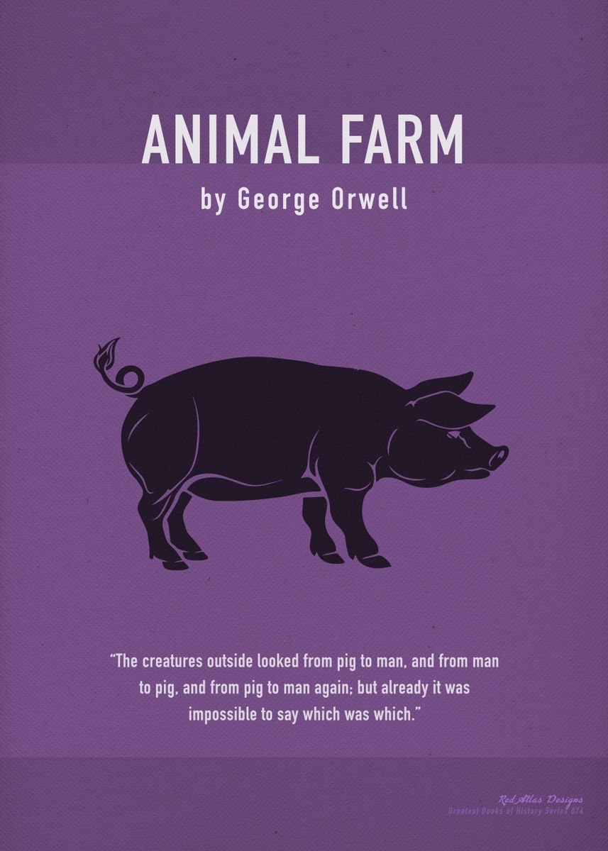 Animal Farm Orwell Art Metal Poster Print Design Turnpike Displate