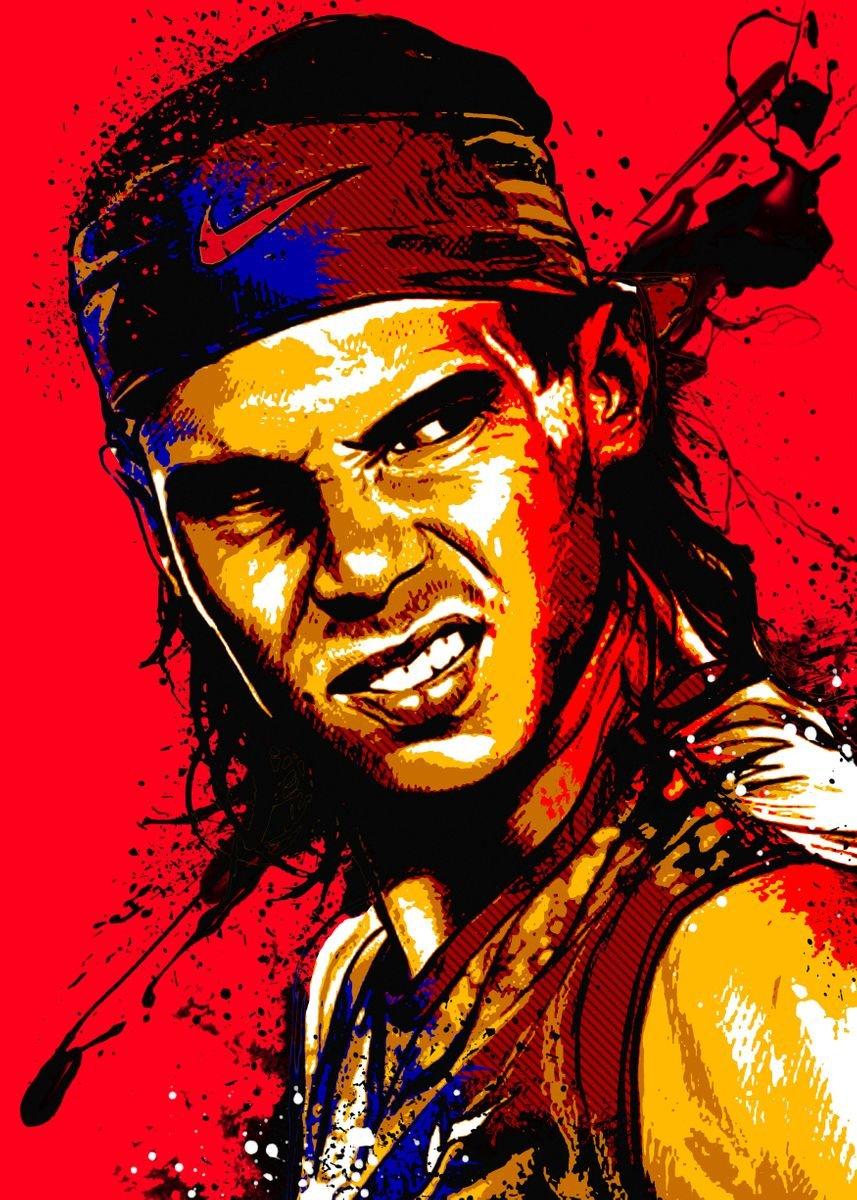 Rafael Nadal Poster Print By Micho Abstract Displate
