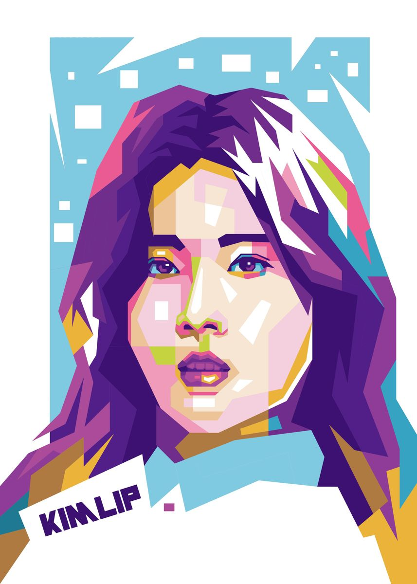 Kim Lip Loona Pop Art Pop Art Poster Print Metal Posters Displate