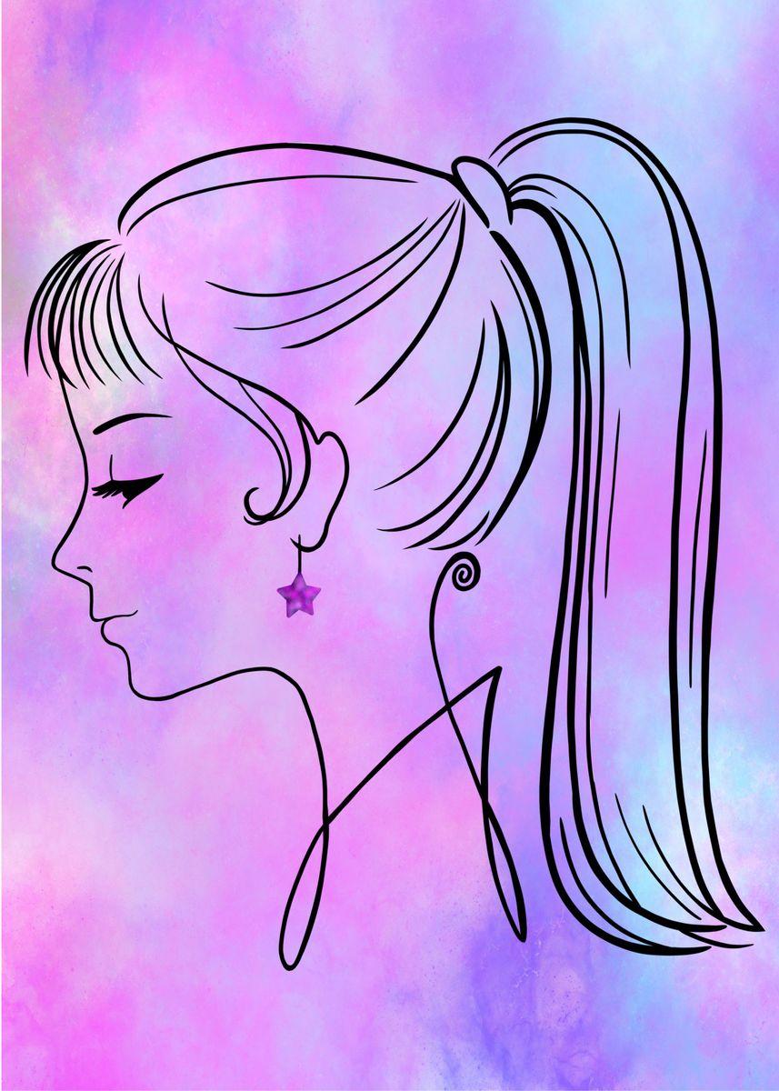 Girl Metal Poster Anubhav Displate