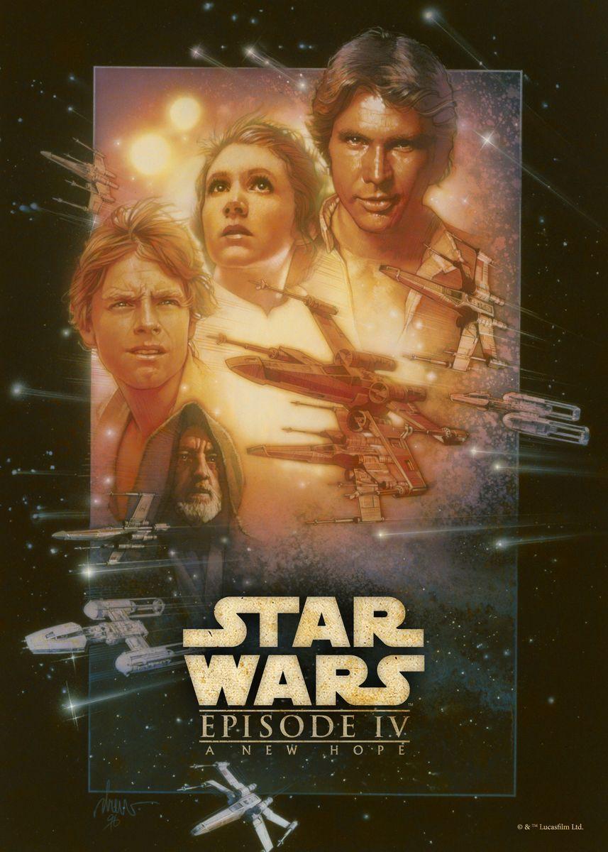 Star Wars Episode Iv A New Ho Metal Poster Star Wars Displate