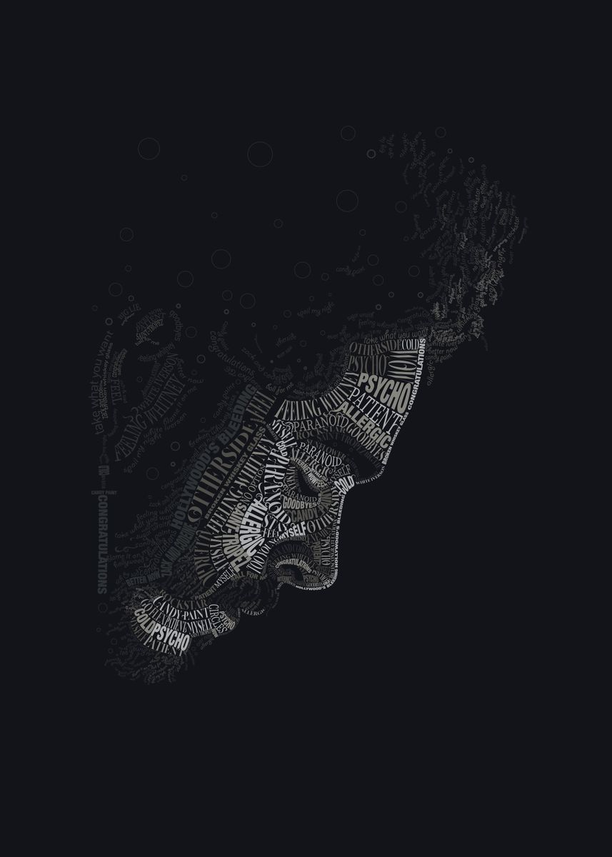 Post Malone Text Art' Poster by kyouzins | Displate