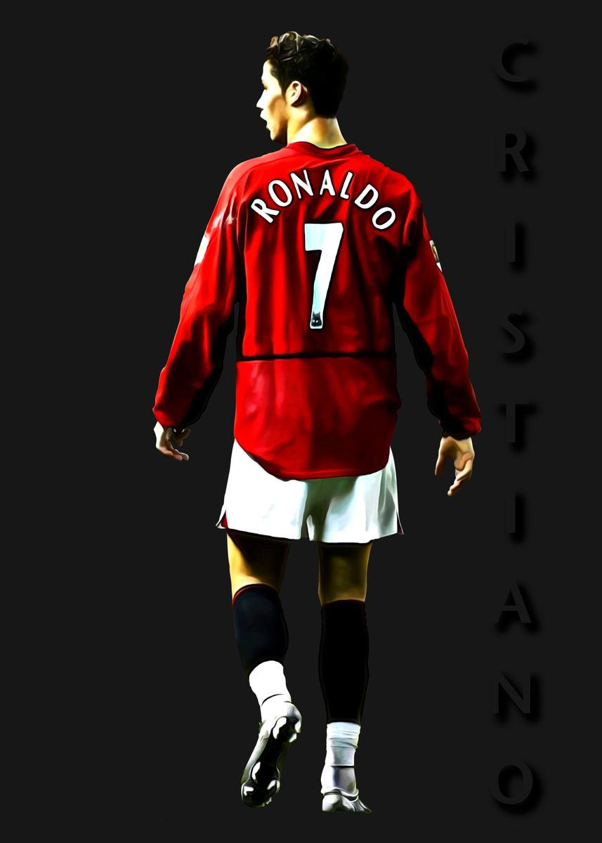 Young Cristiano Ronaldo Poster By Jay Coulthurst Displate